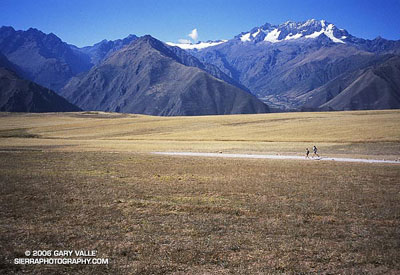 Runners above the Sacred Valley of the Incas, acclimating prior to running the Inca Trail